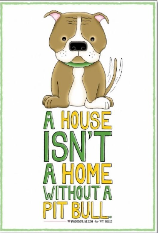 A house isn't a home....without a pit bull or two or three.