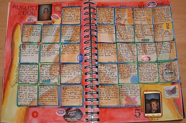 Calendar Art Journal : Best images about art journaling calendars on