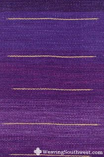 Your Daily Dose of Inspiration! Purple Strata Runner, handwoven by Pat Dozier.