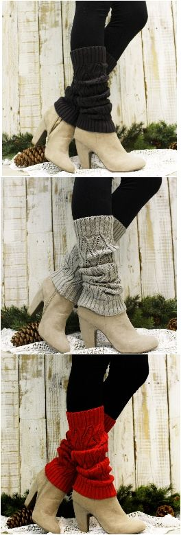Rock the 80's leg warmer look! Cute leg warmers for every Fall and Winter outfit  by Catherine Cole Studio FREE USA SHIPPING!