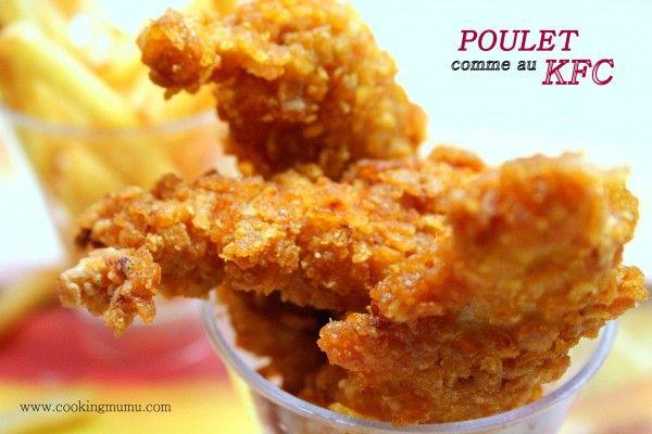 Poulet KFC maison (test 1 : avec des cornflakes)