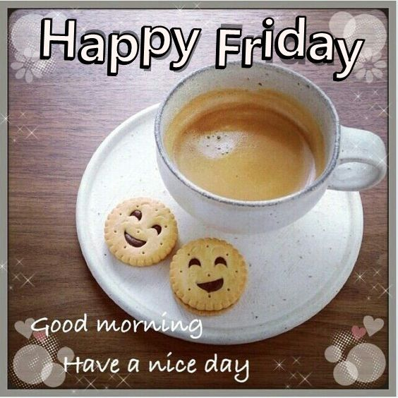 Happy Friday Good Morning Quote With Coffee