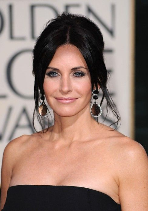 Elegant Updos for Women Over 40: Courteney Cox French Twist Updo Hairstyle