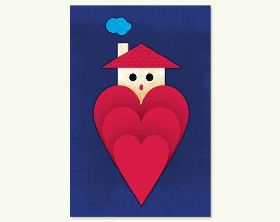 Home is Where The Love Is  4x6 Art Print Home Decor by nonworkers
