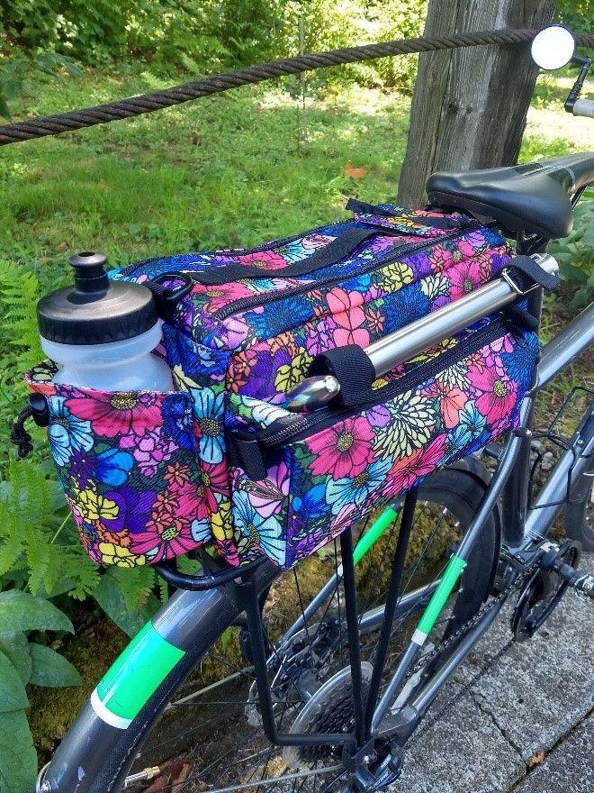 Messenger Bag Bicycle Handlebar Bag Sewing Pattern Detailed Instructions Pdf Pattern Tutoria Bicycle Bag Pattern Handlebar Bag Pattern Bag Patterns To Sew