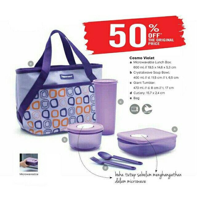 Temukan dan dapatkan  Free Ongkir - Cosmo Violet Lunch Set hanya Rp 157.500 di Shopee sekarang juga! http://shopee.co.id/tuppylovers/3303425 #ShopeeID
