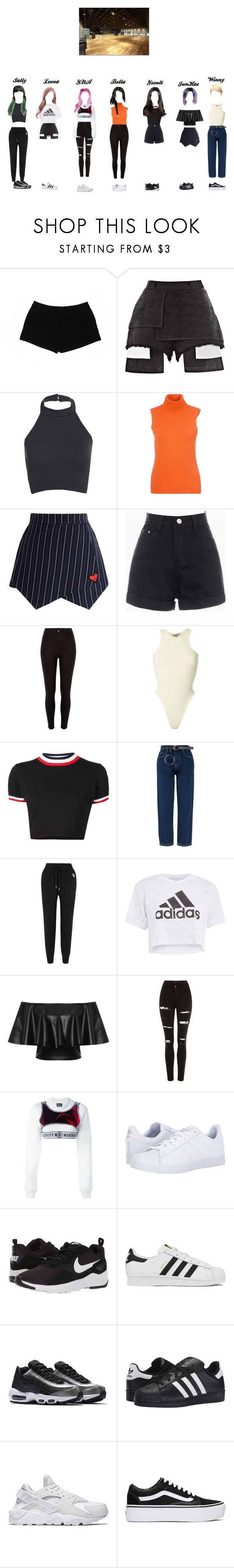 """""""G.R.L.Z- Whatta Man 'Dance Practice'"""" by g-r-l-zofficial ❤ liked on Polyvore featuring Express, E L L E R Y, Chicwish, River Island, Yeezy by Kanye West, UNIF, Markus Lupfer, Topshop, WearAll and Nasir Mazhar"""