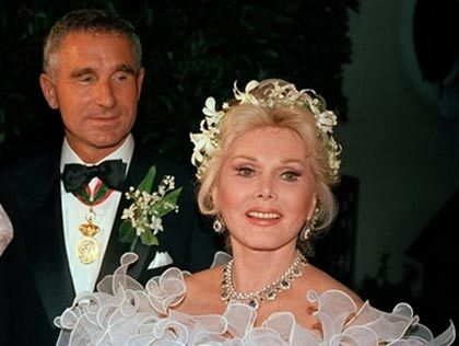 Actress Zsa Zsa Gabor is shown with her eighth husband, Prince Frederick von Anhalt of Munich. Their wedding took place in Los Angeles, August 15, 1986.