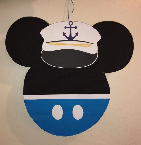 Sailor Mickey Mouse Pinata. Nautical Mickey mouse by aldimyshop