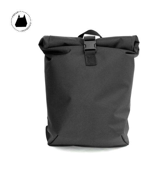ROLLTOP Rucksack Schwarz PVC - Rucksack - Sack Seesack - Reiten - Men's Bag - Tasche Laptop-Tasche