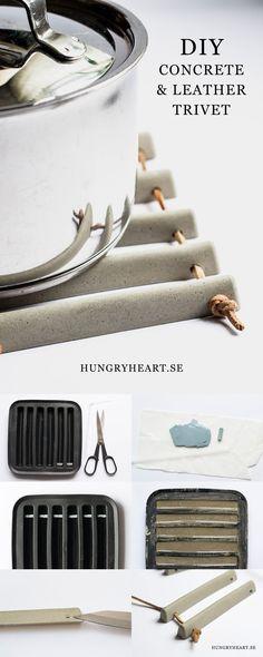 DIY Concrete Trivet Tutorial | Hungry Heart