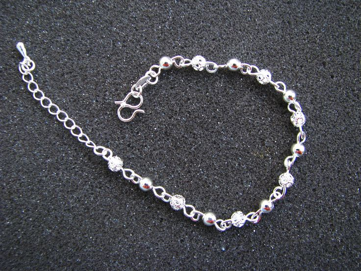 Excited to share the latest addition to my #etsy shop: Silver Ball chain anklet, Fine silver ball bracelet, Silver ball bracelet, Fancy Silver bracelet, fashion bracelet http://etsy.me/2HhRtCz #jewellery #bracelet #silverballs #silverbracelet #silverbangle #fancybracel