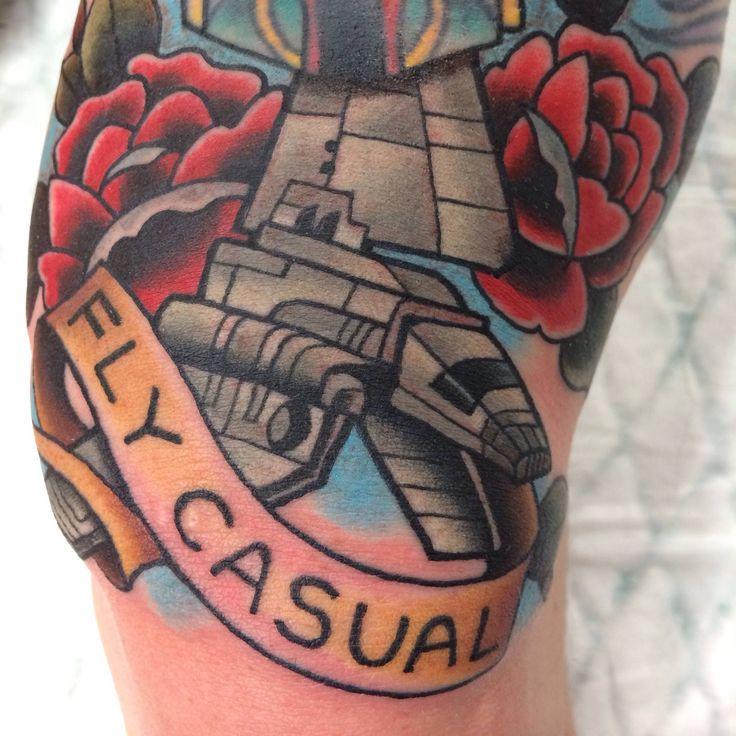 Fly Casual, Star Wars tattoo.