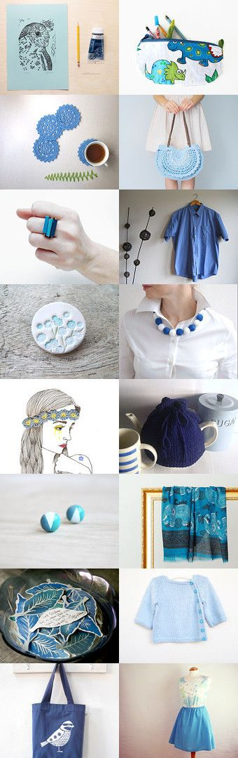 Shades of Blue by Camilla Agathe Lande Jensen on Etsy--Pinned with TreasuryPin.com