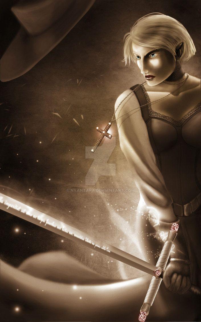 Luthien to postać do RPG Wolsung - jest półelfem i w życiu zajmuje się polowaniem na potwory. Luthien to taka krzyżówka Constantina z D. z Vampire Hunter D. oraz z Van Hell...