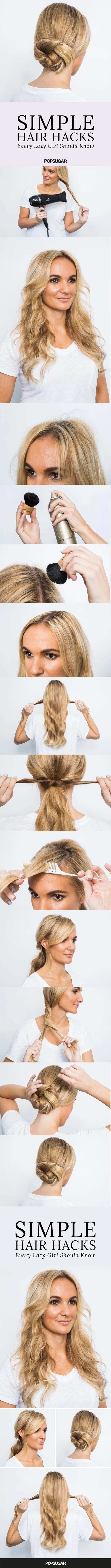 Beauty Hacks for Teens - Simple Hair Hacks - DIY Makeup Tips and Hacks for Skin, Hairstyles, Acne, Bras and Everything in Between - Pictures and Video Tutorials for Girls of All Shapes and Sizes Whether You're Fit or Want to Lose Weight - Get in Shape for Summer with These Awesome Ideas - thegoddess.com/beauty-hacks-teens