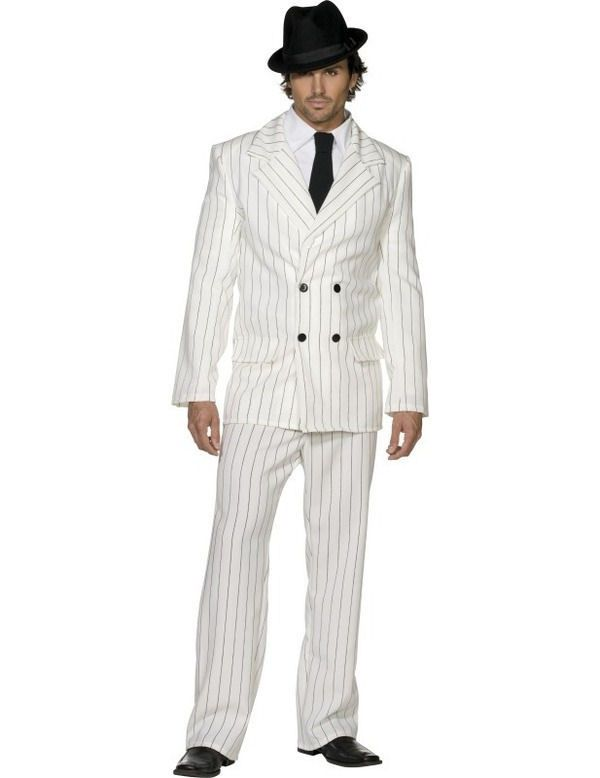 Fever Gangster Costume WHITE
