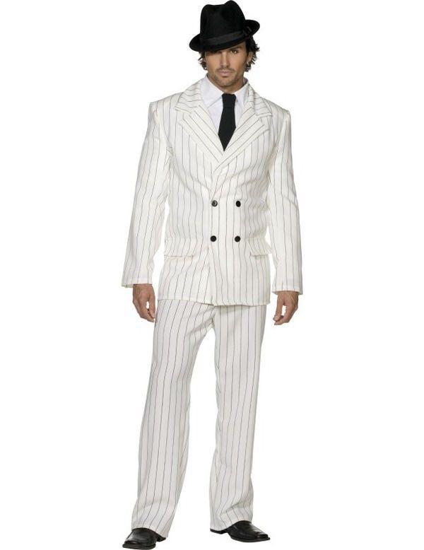 Fever Gangster Costume WHITE