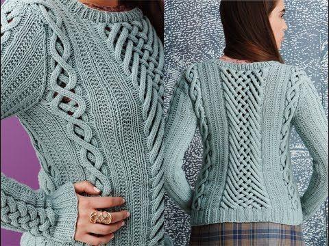 Мобильный LiveInternet Джемпер Fretwork из Vogue Knitting, Fall 2014. Видео, два описания   koko_shik - Дневник koko_shik  