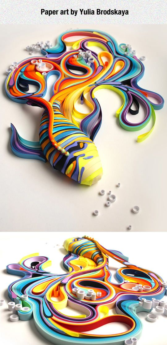 Vibrant Quilled Paper Art