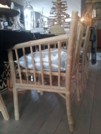 Tine K Home bamboe eetkamer stoel | Banken en stoelen | HOUSE-Dressing.nl