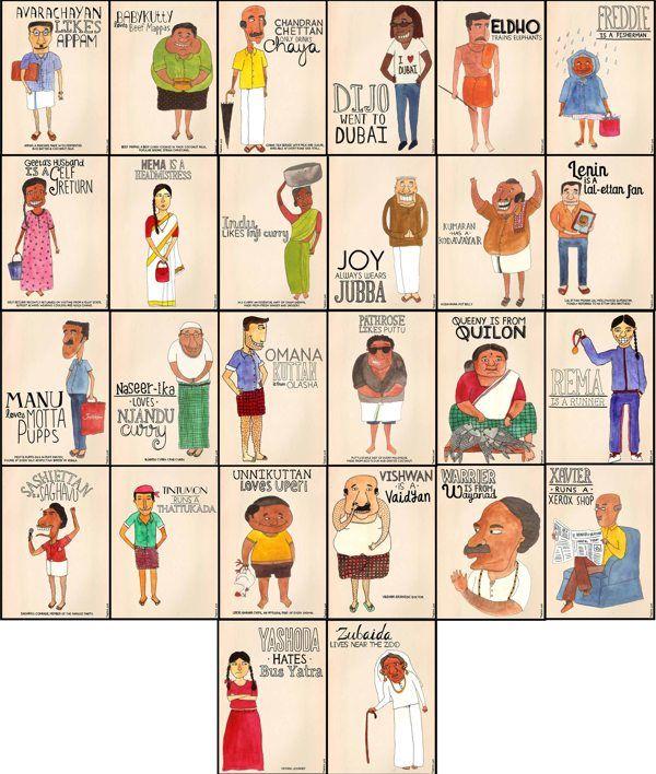 The Malayalee Alphabet by Taarika John, via Behance