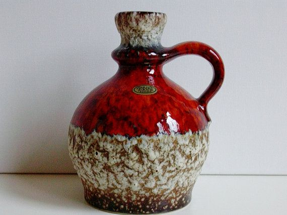 Vintage Fat Lava Jopeko keramik ceramic vase by vintage2remember, €33.00