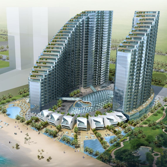 James Law Cybertecture Dubai waterfront, UAE Faberge Tower ...