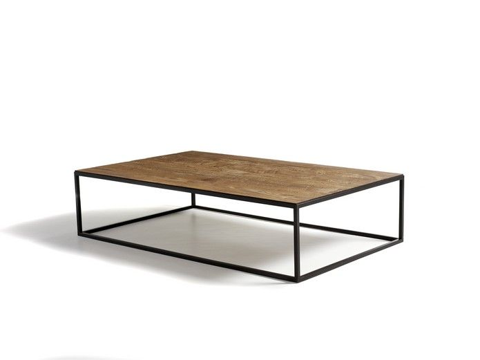 CS Mesa Coffee Table By Paul Delaisse U2014 Manufactured Reclaimed Teak Top On  A Solid Metal Base Finishes Available: Natural, Mist, Ebony, Oil, ...