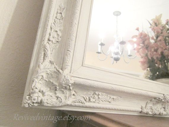 ivory framed mirror vanity mirrors for sale french country. Black Bedroom Furniture Sets. Home Design Ideas
