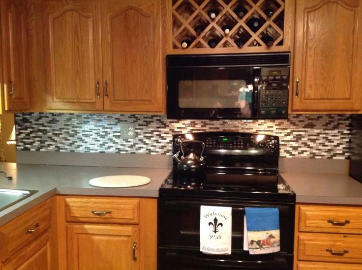 a kitchen backsplash done in two hours we love it and. Black Bedroom Furniture Sets. Home Design Ideas