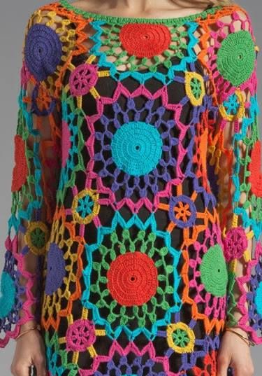 practico, divertido #vestidocrochet #crochet #vestidoganchillo #crochetdress