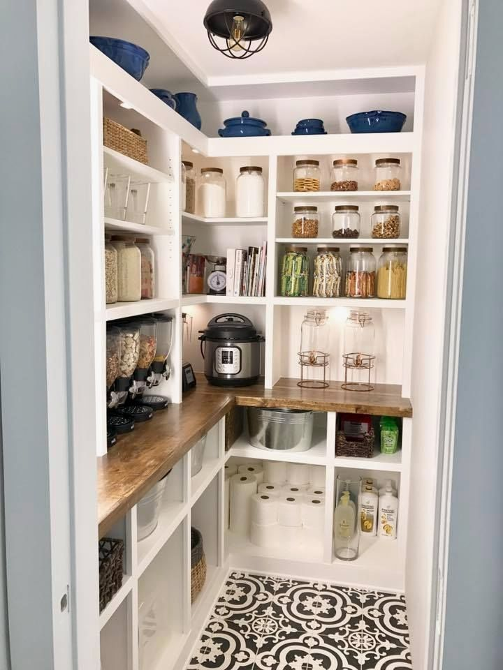 Love The Wood Counter Pantry Remodel Design Home Kitchens