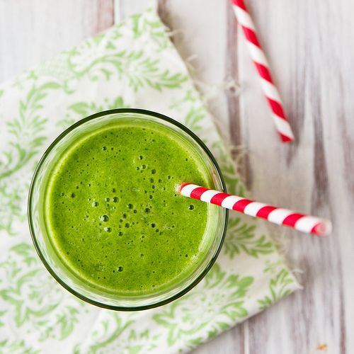 "The ""Green Monster"" Breakfast Smoothie  by foodiebride #Smoothie #foodiebride"