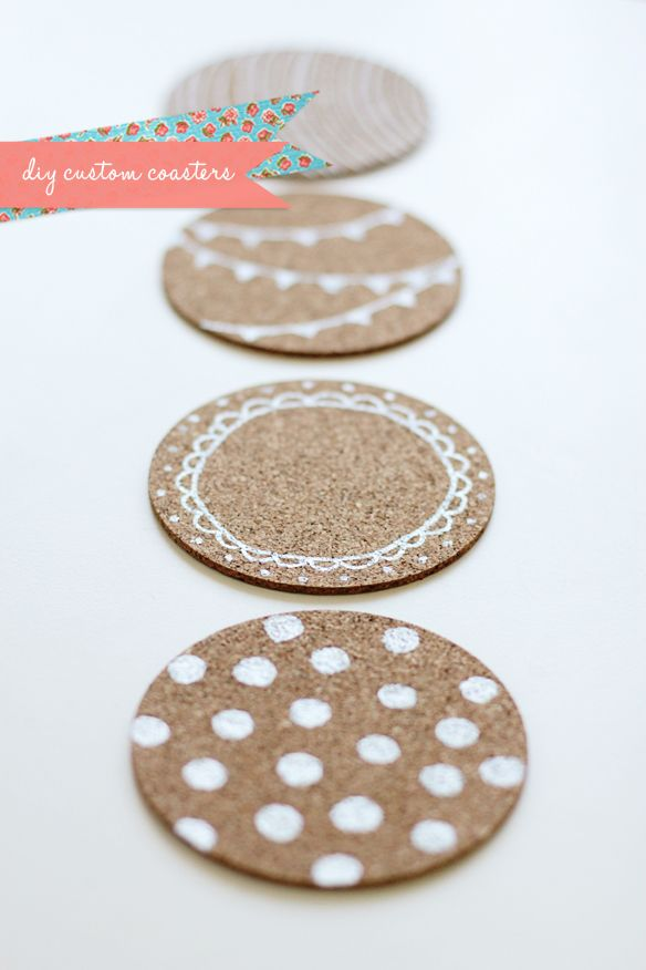 diy coastersDiy Ideas, Diy Coasters, Painting Pens, Gift Ideas, Diy Custom, Custom Coasters, Corks Coasters, Fellows Fellows, Crafty Ideas