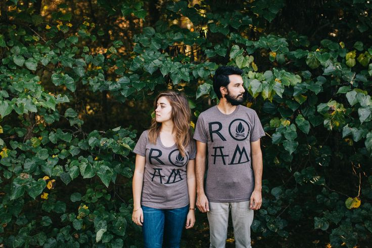 ROAM graphic tees - matching t shirts - men or women - tshirt set - gift for travelers - gift for couples - camping or hiking shirt (48.00 USD) by blackbirdtees