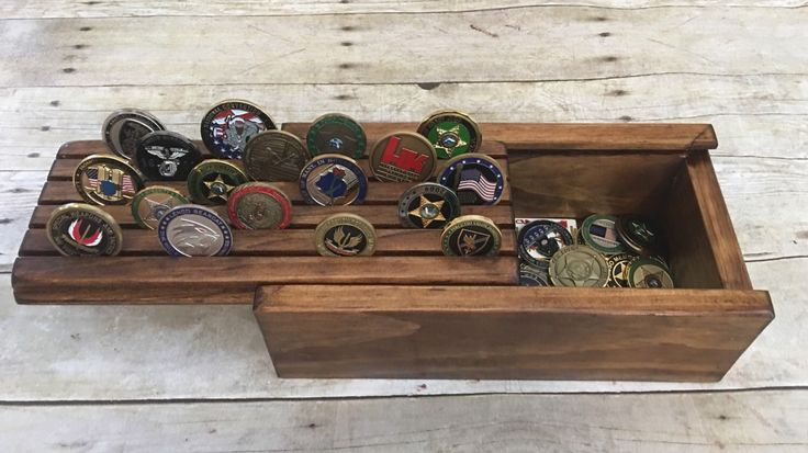 A personal favorite from my Etsy shop https://www.etsy.com/listing/481283963/challenge-coin-display-holder-box