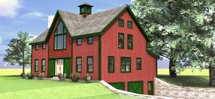 Les 25 meilleures id es de la cat gorie metal barn house Barn guest house plans