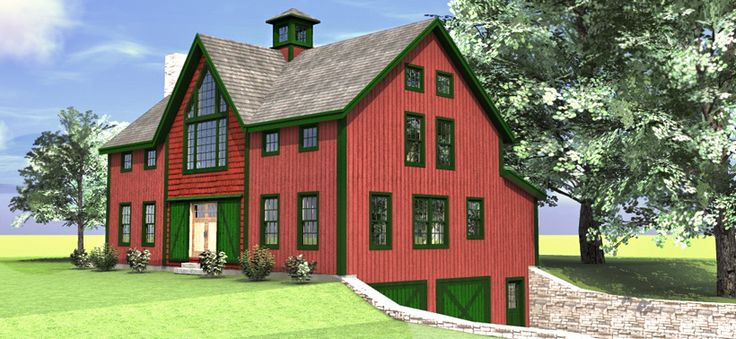 The haley barn style carriage house plan barn home for Large carriage house plans