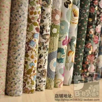 12PCS 23cm*24cm Flower cotton patchwork fabric  sewing quilting tissue DIY crafts tilda doll cloth tecidos