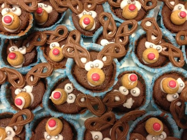 Rensdyr cup cakes