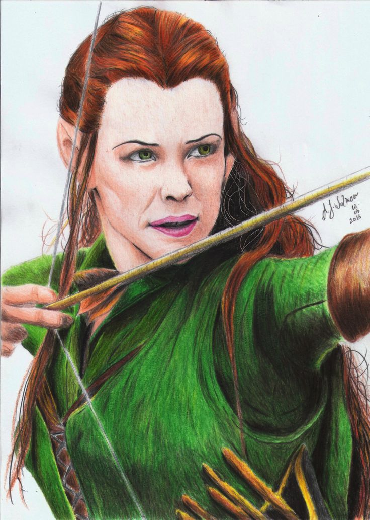 Tauriel-The Hobbit  Artwork by: A.J Walker  *1° ensaio a cores