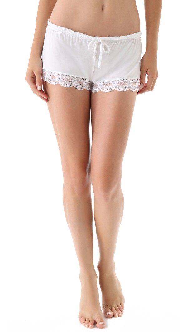 Eberjey India Lace Shortie - White