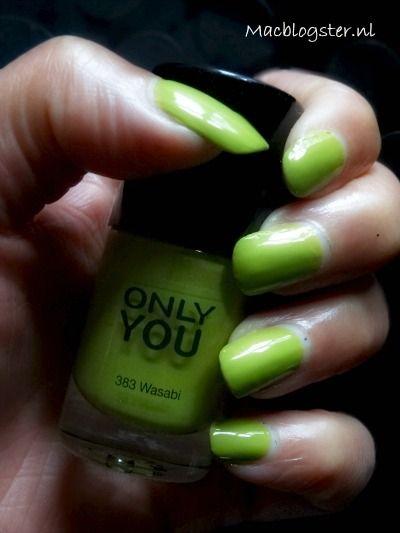 Green nail polish: Only you Wasabi