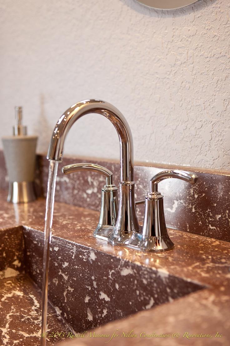 Concrete Countertop Bathroom Vanity ~ I Like The Sink!