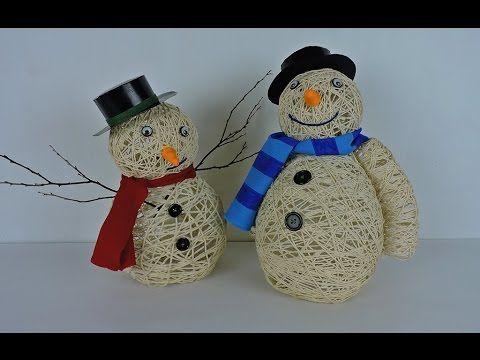 Muñeco de nieve con vasos de plástico   Manualidades fáciles para Navidad - YouTube