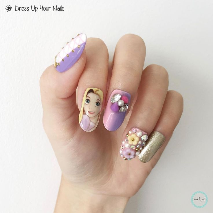Mulan Inspired Nails: 17 Best Disney Princess Nails Images On Pinterest