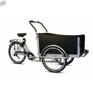 Troy Cargo Sykkel Basic Matt Sort - Med 6 Gir Og Belter For Barn kr 14 990,00 kr 17 888,00