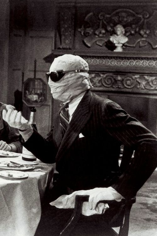 """Claude Rains on his screen test for The Invisible Man (1933, dir. James Whale): """"When I saw the test, I was horrified. I stank. I knew immediately that I hadn't the slightest chance for a film career."""""""