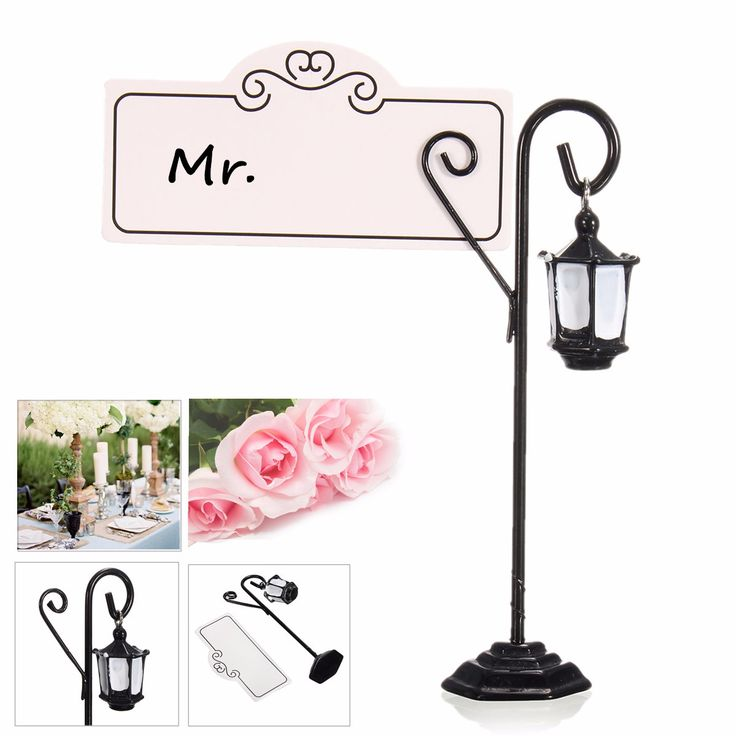 1 Pcs Metal Streetlight Pattern Wedding Place Name Card Holder Party Gift Accessories Cheap - NewChic